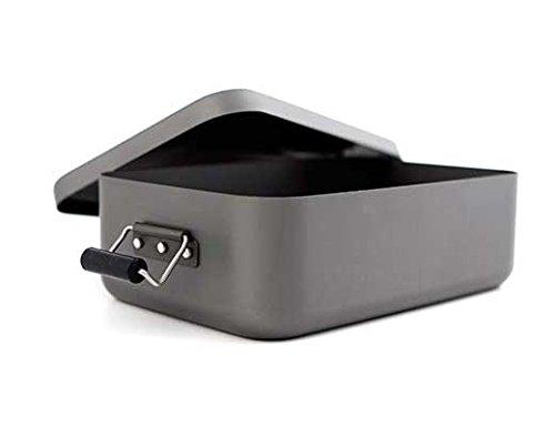 Kikkerland Adventure Lunch Box, Aluminum