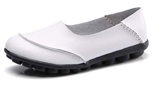 AARDIMI - Zapatillas de Nordic Walking de Caucho Mujer Blanco