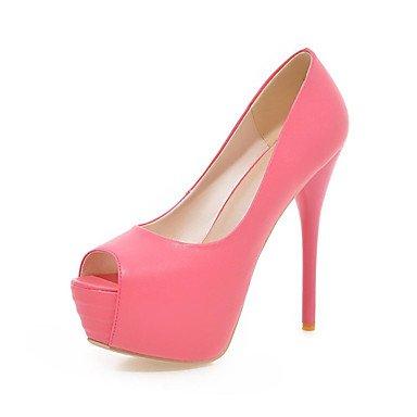 Zormey Women'S Shoes Leatherette Stiletto Heel Peep Toe / Open Toe Sandals / Dress / Casual Blue / Yellow / Green / Beige US6 / EU36 / UK4 / CN36
