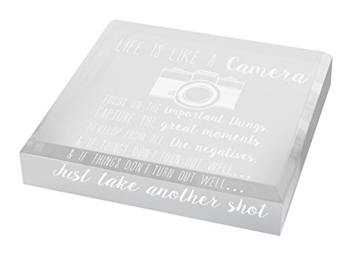 Photographer Gifts for Women Life is Like a Camera Photographer Gift Photography Gifts for Women Engraved Acrylic Keepsake Paperweight Plaque