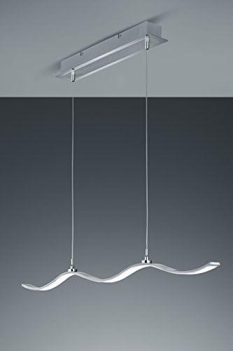 Trio Leuchten Trio 474112505 Paralume Marius con LED, in Alluminio Spazzolato, Acrilico Bianco 25 W