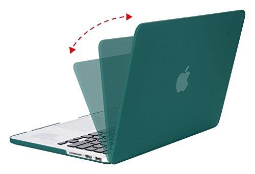 MOSISO Ultra Delgado Plástico Dura Funda Rígida Caso para MacBook Pro 13 Pulgadas con Pantalla Retina sin CD-Rom (A1502 / A1425, Versión 2015/2014/2013/fin 2012), Cuarzo Rosa Verde Oscuro