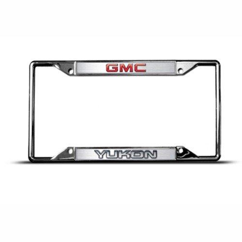 gmc-yukon-metal-zinc-metal-license-plate-frame-tag-holder-tag