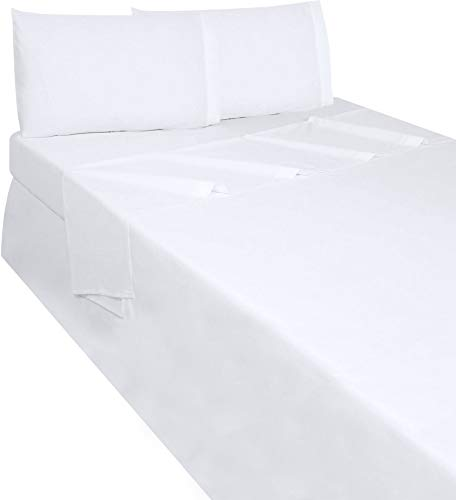 Utopia Bedding Soft Brushed Microfiber Twin Flat Sheet, White -
