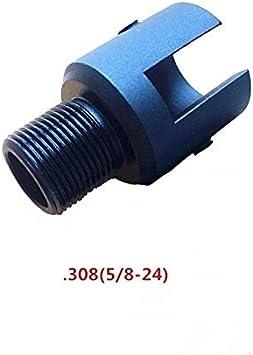XFC-QIANG, Adaptador De Barril Extremo Roscado 1 / 2x28 For Ruger 10/22 Adaptador De Rosca con Moleteado De Acero Protector De Roscas 1/2-28 Tema VI05084 (Color : .308)