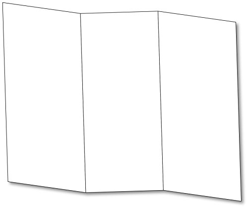 Blank Bright White Tri-fold Brochure Card Stock - 65lb Cover (176 Gsm) Scored for Easy Folding. - 50 Per Pack.