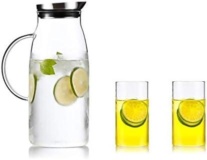 Jarra de Jarra de Vidrio de Moda Casera, Botella de Agua de Vidrio ...