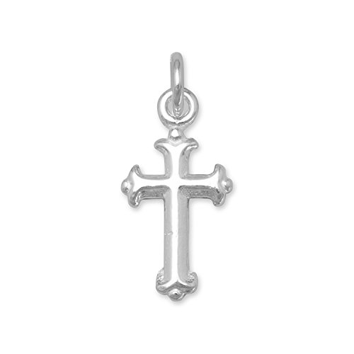 925 Sterling Silver Small Silver Cross Charm