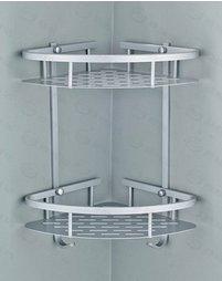 Wang-Data Shower Caddy Shelf, 2 Tier Pre...