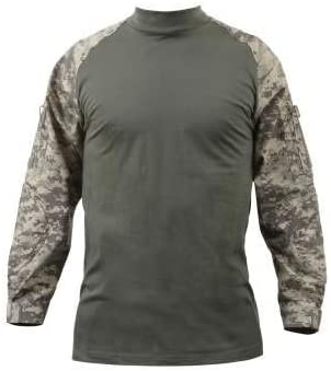 Rothco Mens Cotton Blend Tactical Airsoft Combat Shirt /& 2 Free USA Flag Patches