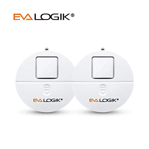 EVA LOGIK Modern Ultra-Thin Window Alarm 2 Pack with Loud 120dB Alarm and Vibration Sensors Compatible with Virtually Any Window, Glass Break Alarm Perfect for Home, Office, Dorm Room