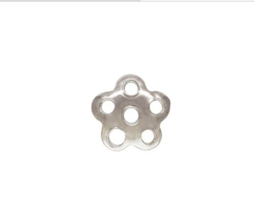 925 Solid STERLING SILVER 5mm Flower Bead Caps 30pcs