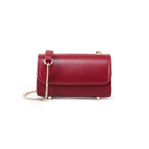 Dimensioni Tracolla 12cm Vera 8 Donna In 18 Bag colore Rosso Messenger Mai Vino Pelle Borsa A 5 5 Nero Da T7OwI