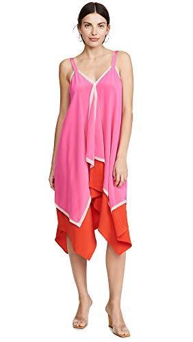 (Diane von Furstenberg Women's Wren Dress, Manic Pink/Flamenco/Ivory, Medium)