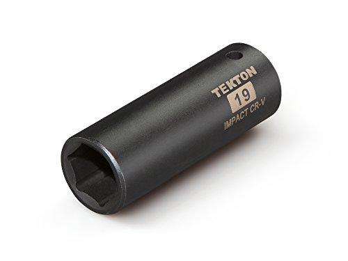 19 Mm Socket (TEKTON 47810 1/2-Inch Drive by 19 mm Deep Impact Socket, Cr-V, 6-Point)