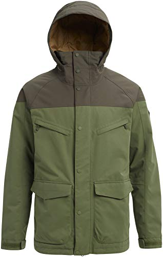Burton Men's Breach Jacket, Clover/Forest Night, Large