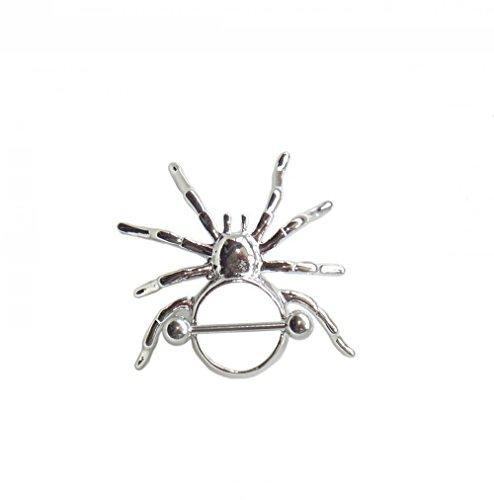 hyidealism pezón anillo bares Spider cuerpo piercing joyas par 14G se vende como par
