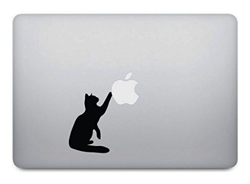 Black Cat Macbook Decal Removable product image