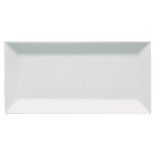 Fortessa Fortaluxe SuperWhite Vitrified China Dinnerware, Plaza 14 by 6-1/2-Inch Rectangular (Vitrified China Restaurant)