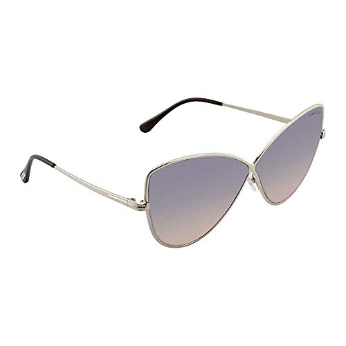 Tom Ford ELISE-02 FT0569 16B Women Silver Metal Infinity Butterfly Sunglasses