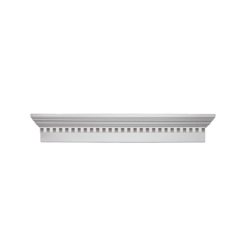 Fypon WCH72X6D 72''W x 75 1/2''OW x 6''H x 1''P Crosshead with Dentil Trim by Fypon