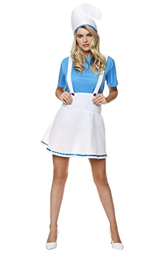 Women's Miss Blue Costume - for Halloween Costume Party Accessory - Medium]()