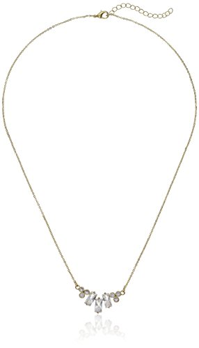 CZ by Kenneth Jay Lane Women's Baguette Cluster Choker Necklace, Clgo, One Size