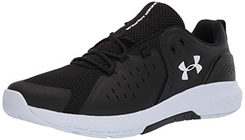 Under Armour Men's Charged Commit 2.0 Running Shoe, Black (001)/White, 10