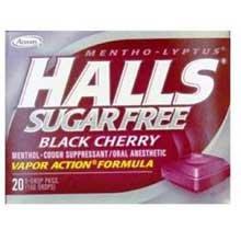 Vapor Black Cherry - Halls Sugar Free Black Cherry - 25 count bag, 48 per case