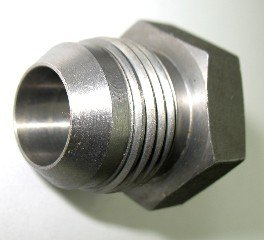 9//16-18 Threads AF 403-06-06-3//8 Male JIC Braze-On Tube OD X 3//8 4 Pack