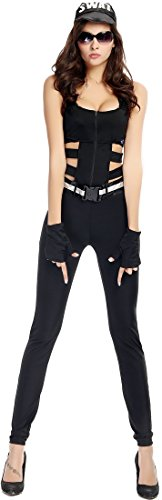 Fedo Design Black Cool Agent Policewoman Role Play Costume Set
