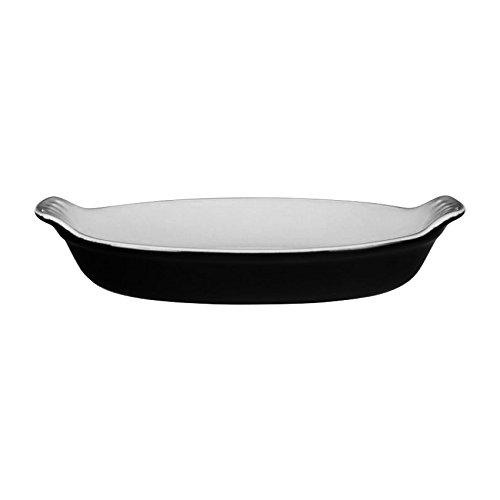 Le Creuset Heritage Stoneware Petite Oval Au Gratin Dish, Black