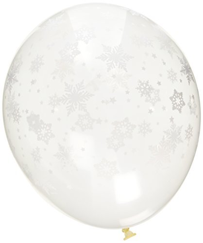 Qualatex Snowflakes-A-Round Biodegradable Latex Balloons, Diamond Clear Color, 11-Inches (12-Units) -
