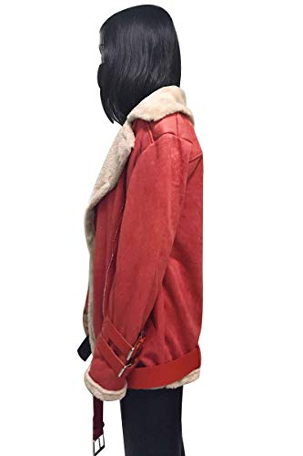 Pile Cintura Bavero Invernali Camoscio Manica Tasche Inclusa Di Cerniera Moda Hot Giacca Alta Giubotto Laterali Women Lunga Lana Vita Donna Giaccone Giovane In Zimtfarbe Con Cappotto Elegante Ww7qYvawT