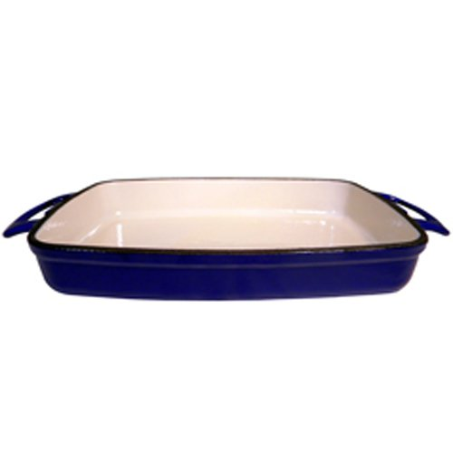 FancyCook Enamel Cast Iron Blue Rectangular Roasting Dish 11 by FancyCook (Image #2)'
