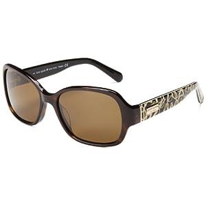 Kate Spade Women's Akira Polarized Rectangular Sunglasses,Tortoise,54 mm