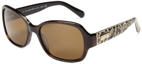 Kate Spade Women's Akira Polarized Rectangular Sunglasses,Tortoise,54 - New Glasses Store York