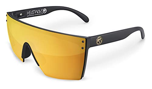Heat Wave Visual Lazer Face Sunglasses in Gold ()
