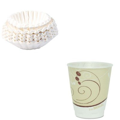KITBUN1M5002SLOX8J8002 - Value Kit - Solo Symphony Design Trophy Foam Hot/Cold Drink Cups (SLOX8J8002) and Bunn Coffee Commercial Coffee Filters (BUN1M5002) by Solo (Image #1)
