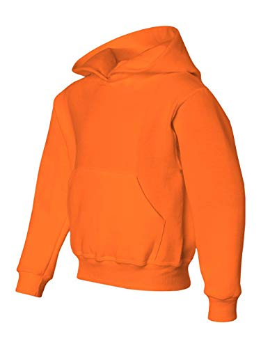 Big Boys Adult Sweatshirt - Jerzees Youth NuBlend Hooded Pullover Sweatshirt (Safety Orange) (Medium)