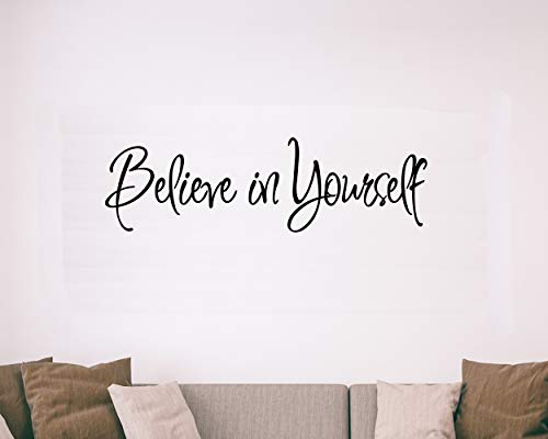Believe in Yourself Decal Wall Quote Sayings Stickers Quotes Vinyl Inspirational Wall Decals Words Letters by VWAQ
