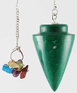 GP019 Synthetic Malachite 7 Chakra Pendulum