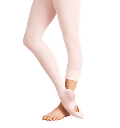 Body Wrappers C31 Girls totalSTRETCH Convertible Tights (S/M, Theatrical Pink)