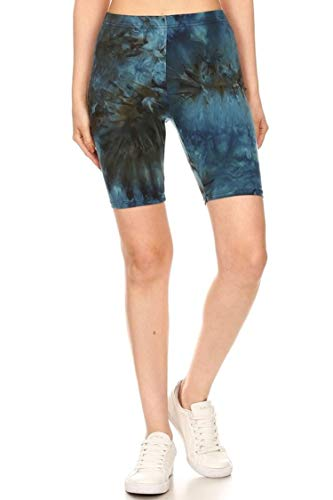FashionJOA Women's Activewear Solid Workout Cycling Yoga Running High Waist Pants Biker Shorts