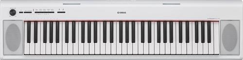 Yamaha NP12 61-Key Lightweight Portable Keyboard, White (power adapter sold separately) (Yamaha Links)