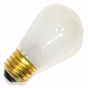 Litetronics 26150 - L-101 11 S14 FR Standard Screw Base White Frosted Scoreboard Sign Light Bulb