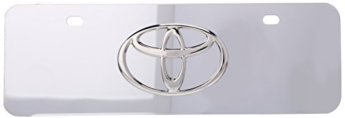 Auto Gold TOYCCM Chrome On Chrome License Logo Mini Plate, Toyota