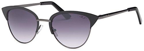 CatEye Sunglasses by Mia Nova   Women Designer Tip Pointed Semi-Rimless CatEye Metal - Mio Sunglasses Mio