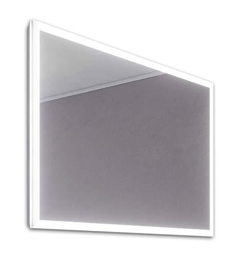 DIAMOND X COLLECTION Lilja Slimline Edge LED Bathroom Mirror with Demister Pad -