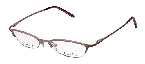 Thalia Patia Womens/Ladies Vision Care Red Carpet Style Designer Half-rim Flexible Hinges Eyeglasses/Spectacles (45-18-130, Light Rose / - In Rim Are Glasses Half Style